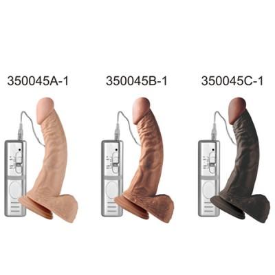 21.5 Cm Süper Realistik Eğri Şekil Vibratör